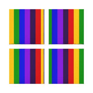 Regalos coloridos clásicos de las rayas verticales lienzo envuelto para galerias