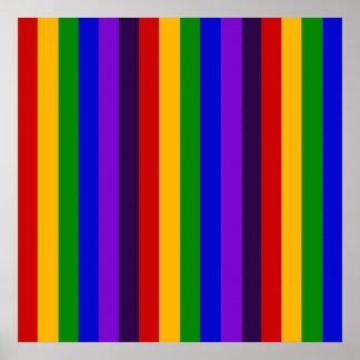 Regalos coloridos clásicos de las rayas verticales poster