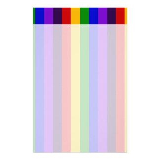 Regalos coloridos clásicos de las rayas verticales papeleria personalizada
