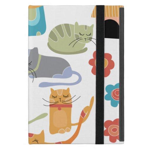 Regalos coloridos de la impresión de los gatos del iPad mini carcasa