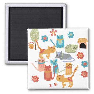 Regalos coloridos de la impresión de los gatos del imán de frigorifico