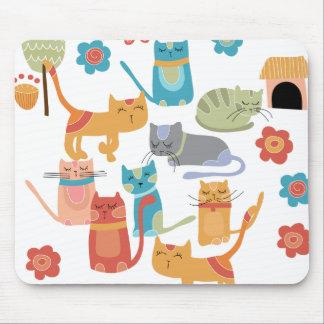 Regalos coloridos de la impresión de los gatos del alfombrilla de ratón