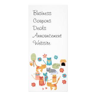Regalos coloridos de la impresión de los gatos del tarjetas publicitarias a todo color