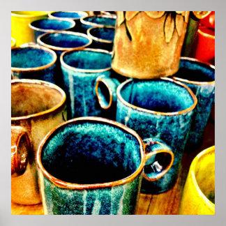 Regalos coloridos de las tazas de café para el tru impresiones