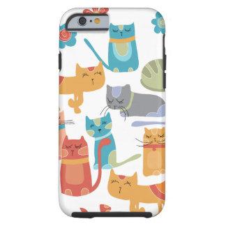 Regalos coloridos de los gatos del gatito para los funda para iPhone 6 tough
