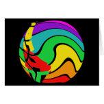 Regalos coloridos del arte del arco iris felicitaciones