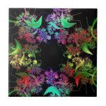 Regalos coloridos del arte del fractal del diseño  azulejos cerámicos