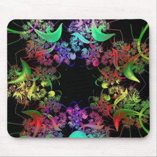 Regalos coloridos del arte del fractal del diseño tapete de ratones