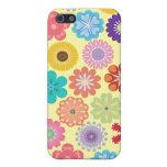 Regalos coloridos del estampado de flores del flow iPhone 5 protector