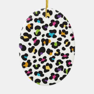 Regalos coloridos del estampado leopardo del guepa adorno para reyes