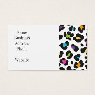 Regalos coloridos del estampado leopardo del tarjeta de negocios