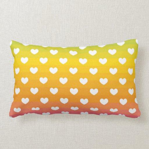 Regalos coloridos del modelo de los corazones del  almohada
