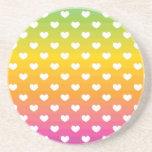 Regalos coloridos del modelo de los corazones del  posavasos manualidades