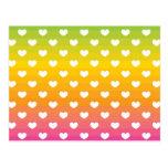 Regalos coloridos del modelo de los corazones del  postales