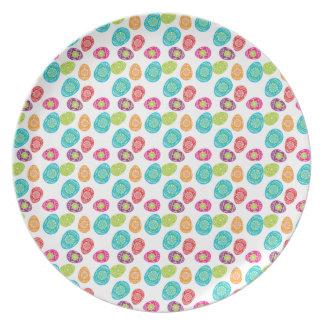 Regalos coloridos del modelo de los huevos de Pasc Plato De Comida