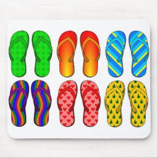 Regalos coloridos del verano del tema de la playa  tapete de ratón