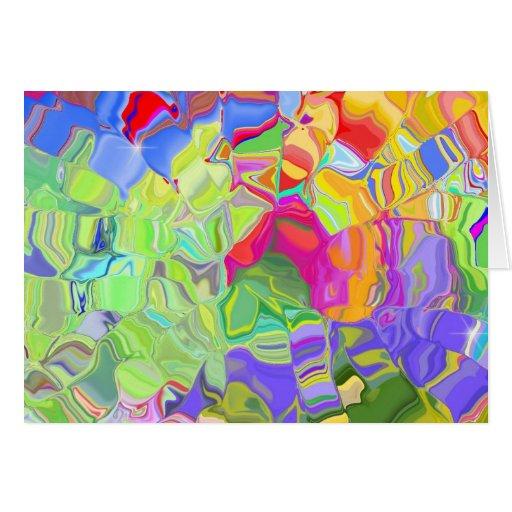 Regalos coloridos hermosos de los cubos de hielo tarjeta de felicitación