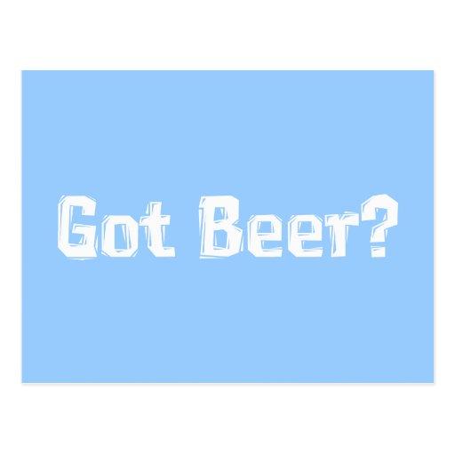 Regalos conseguidos de la cerveza tarjeta postal