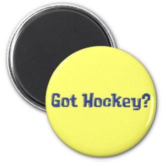 Regalos conseguidos del hockey imán redondo 5 cm