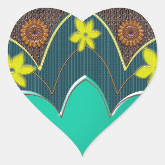 REGALOS curativos de restauración de los colores Pegatina En Forma De Corazón