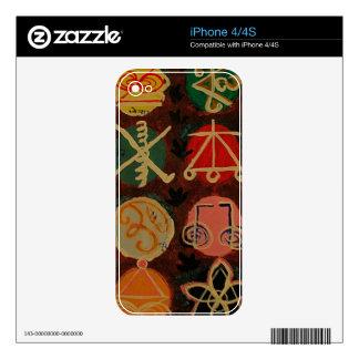 Regalos curativos del símbolo de Karuna Reiki de iPhone 4 Calcomanías