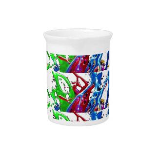 Regalos de baile grabados en relieve coloridos jarrones