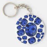 Regalos de Birthstone de las gemas del zafiro por  Llaveros Personalizados