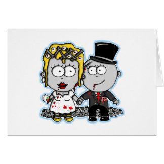 Regalos de boda lindos de novia y del novio del zo felicitación