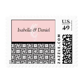 Regalos de boda Monogramas Iniciales Stamp