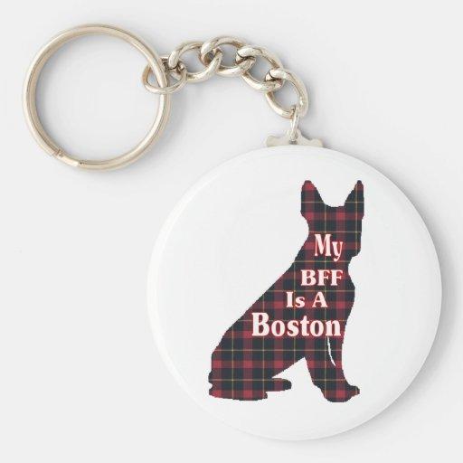 Regalos de Boston Terrier Llavero Redondo Tipo Pin
