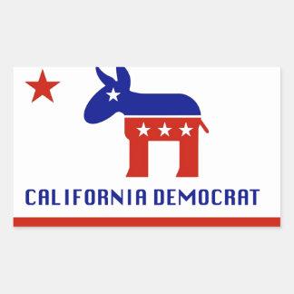 Regalos de California Demócrata Pegatina Rectangular