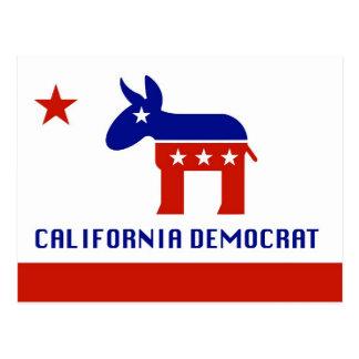Regalos de California Demócrata Tarjeta Postal