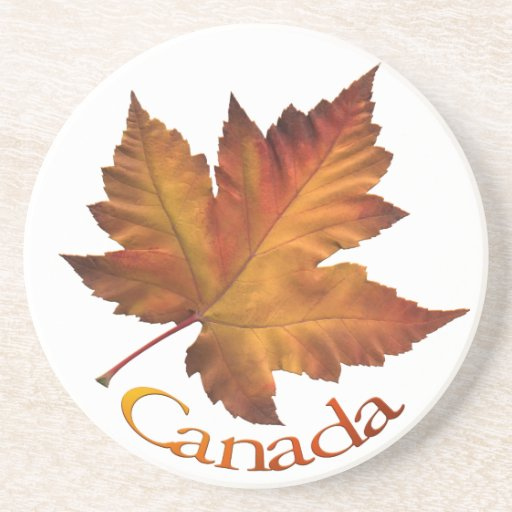Regalos de Canadá de la hoja del otoño del recuerd Posavasos Cerveza