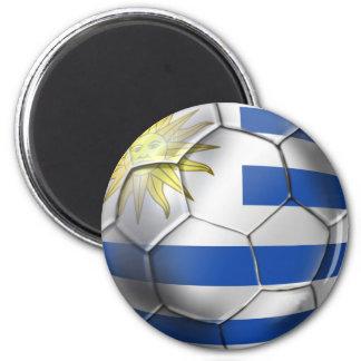 Regalos de Charruas de la bandera del futbol del b Imán De Nevera