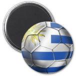 Regalos de Charruas de la bandera del futbol del b Imán Redondo 5 Cm