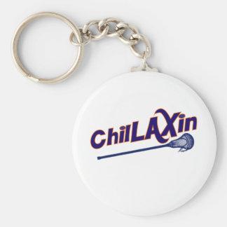 Regalos de Chillaxin LaCrosse LAX Llaveros