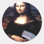 Regalos de cumpleaños clásicos de Mona Lisa Etiqueta Redonda