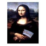 Regalos de cumpleaños clásicos de Mona Lisa Postal