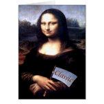 Regalos de cumpleaños clásicos de Mona Lisa Tarjetas