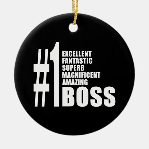 Regalos de cumpleaños de los jefes: Número uno Bos Ornamentos Para Reyes Magos