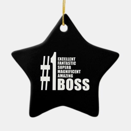 Regalos de cumpleaños de los jefes: Número uno Bos Ornamente De Reyes