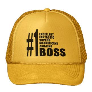 Regalos de cumpleaños de los jefes: Número uno Bos Gorros Bordados