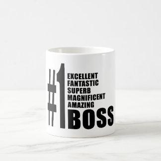 Regalos de cumpleaños de los jefes: Número uno Bos Taza Básica Blanca