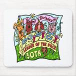 Regalos de cumpleaños de los mascotas del fiesta 5 alfombrillas de raton