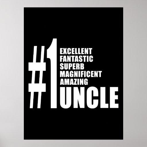 Regalos de cumpleaños de los tíos: Tío del número  Posters