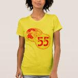 Regalos de cumpleaños del bailarín del vintage 55. camiseta