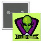Regalos de cumpleaños del extranjero de espacio 2d pin
