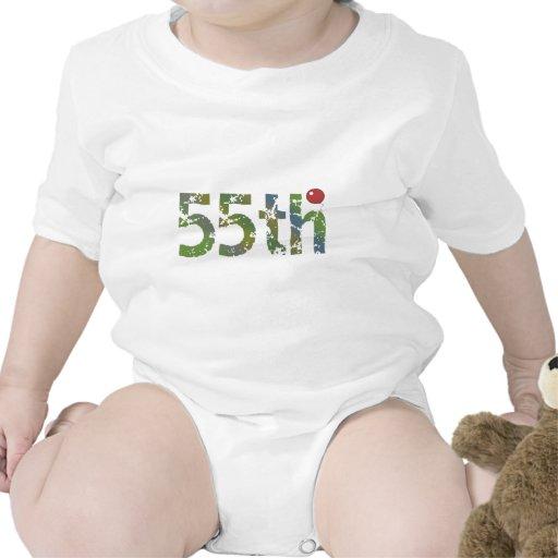 Regalos de cumpleaños del globo del cumpleaños 55. trajes de bebé