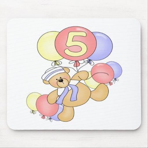Regalos de cumpleaños del oso de los muchachos 5to tapete de ratones