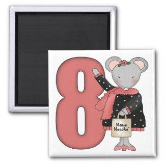 Regalos de cumpleaños del ratón de las compras 8vo iman de nevera